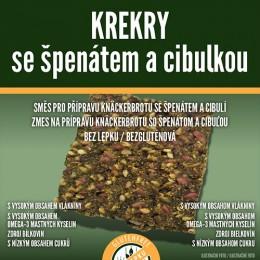 Krekry se špenátem a cibulkou 250 g bez lepku Adveni