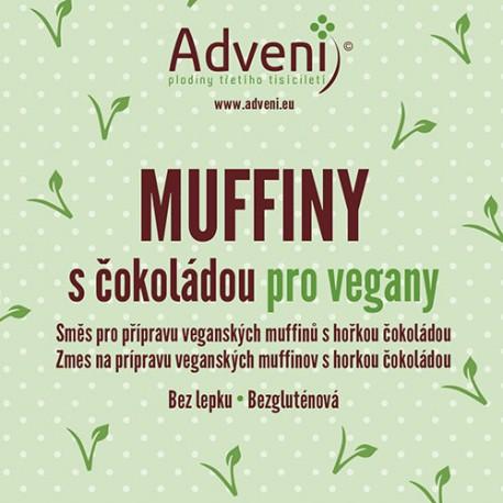 Muffiny s čokoládou pro vegany 280 g bez lepku Adveni