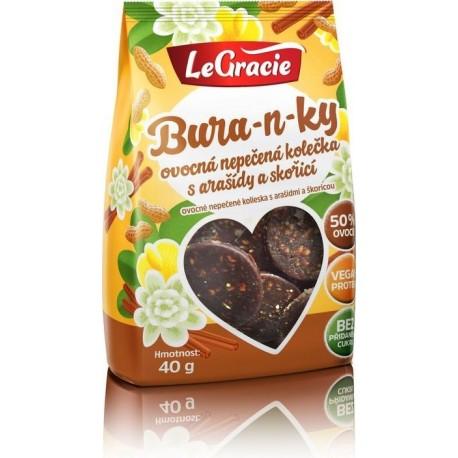 Bura-n-ky - Ovocná nepečená kolečka s arašídy a skořicí 40g