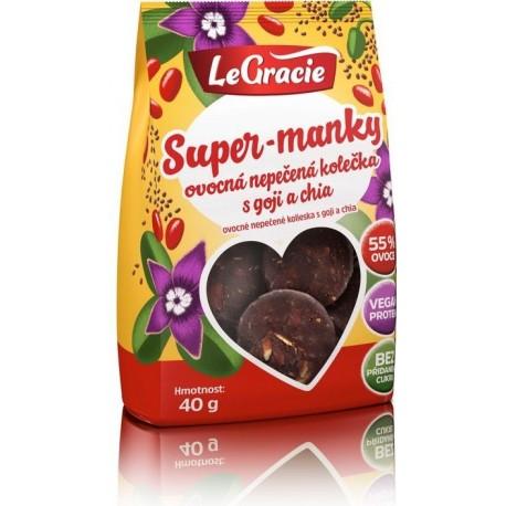 Super-manky - Ovocná nepečená kolečka s goji a chia 40g