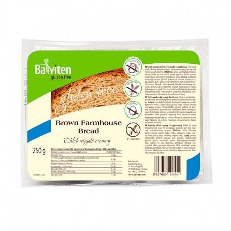 Chléb Venkovský bochník tmavý, bez lepku, 250g PREMIUM