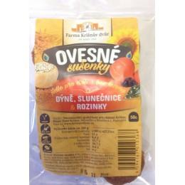Ovesné sušenky - Dýně, slunečnice a rozinky 100g FKD