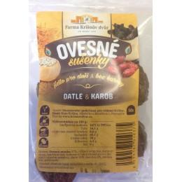 Ovesné sušenky - Datle a karob 100g FKD