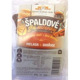 Špaldové ghí sušenky - Melasa a skořice 100g FKD