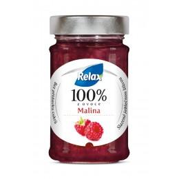 Relax 100% z ovoce Malina bez přidaného cukru 220g