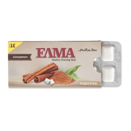 Žvýkačky ELMA s mastichou - skořice bez cukru