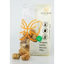 Křupavé kuličky Natural bez lepku, mléka a vajec - Natural 150g
