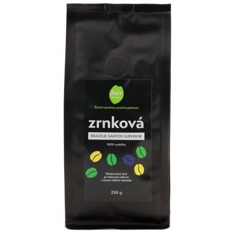 Zrnková káva Brazílie Santos Superior, 250 g Fair trade FO