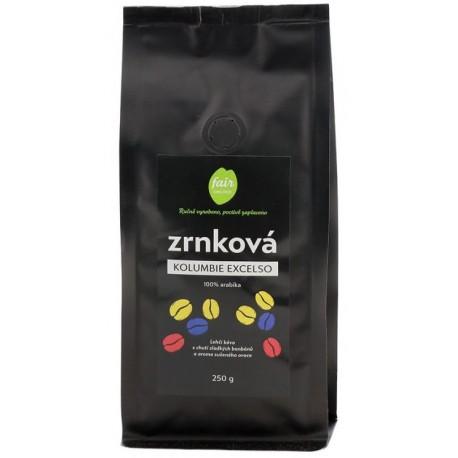 Zrnková káva Kolumbie Excelso, 250 g Fair trade FO