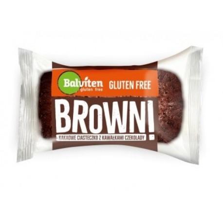 Browni kakaové s kousky čokolády, bez lepku, 65g Balviten