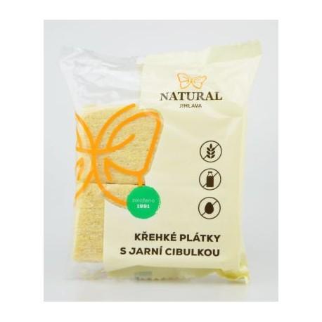 Křehké plátky s jarní cibulkou bez lepku - Natural 75g