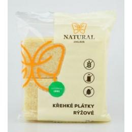 Křehké plátky rýžové bez lepku - Natural 75g