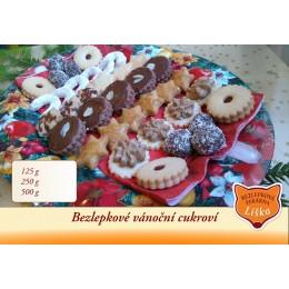 Bezlepkové vánoční cukroví 7 druhů 500 G Liška