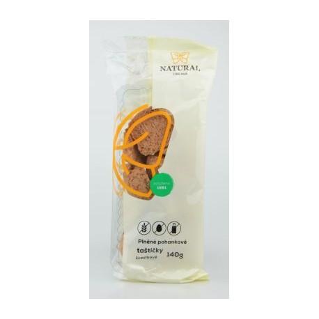 Sušenky plněné pohankové taštičky švestkové bez lepku, vajec a mléka - Natural 140g