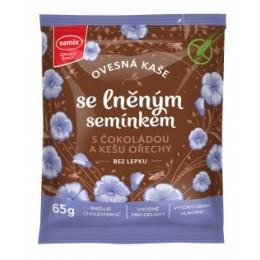 Ovesná kaše s čokoládou, kešu ořechy a lněným semínkem bez lepku 65 g SEMIX