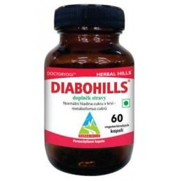 Diabohills - doplněk stravy - Herbal Hills 60 veg. kapslí (normální hladina cukru v krvi - metabolismus cukrů)