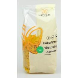Těstoviny kukuřičné - Alphabet (písmenka) bez lepku - Natural 300g