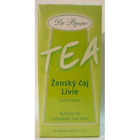 Ženský čaj Livie - 20 sáčků POPOV