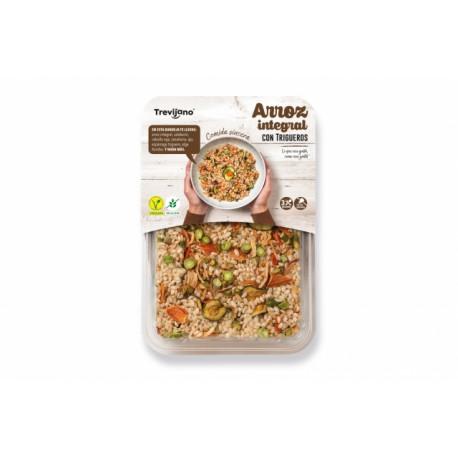 Hnědá rýže se zeleným chřestem bez lepku (3 porce) - Trevijano 250g