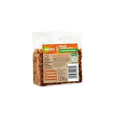Chlebík vícezrnný s quinoa semínky, bez lepku, 250g Balviten