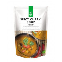 Pikantní curry polévka s kokosem a houbami shiitake BIO AUGA