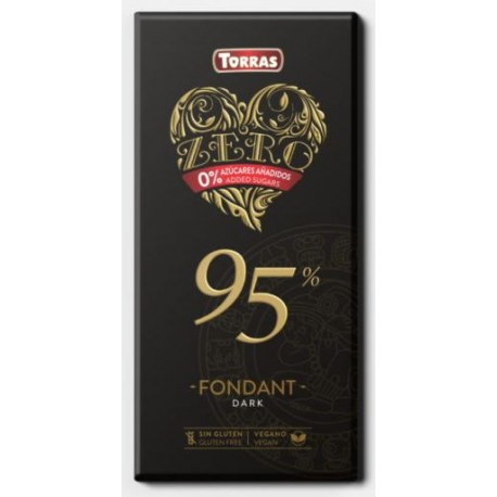 Hořká čokoláda 95 % 100g TORRAS