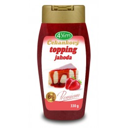 Čekankový topping JAHODA - 330g 4Slim