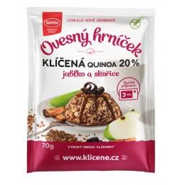 Ovesný hrníček s klíčenou quinoou, jablky a skořicí bez lepku 70 g SEMIX