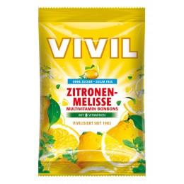 Bonbóny bez cukru - Vivil - multivitamín citron meduňka 60g