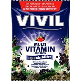 Bonbóny bez cukru - Vivil - černý bez 60g