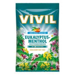 Bonbóny bez cukru - Vivil - eukalyptus mentol 60g