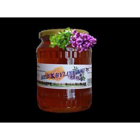 Med s bylinkami - lesní s květem mateřídoušky 500g ZV