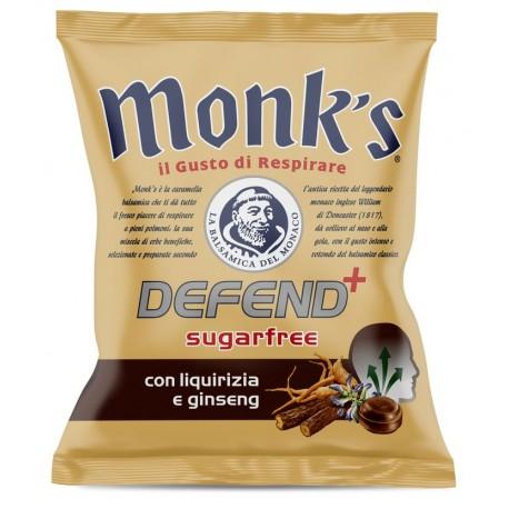 Balsamikové bonbony bez cukru Defend+ lékořice a ženšen - Monk´s 46g