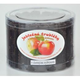 Jablečné trubičky s černým rybízem a s čokoládovou polevou dóza - Trutna 450g