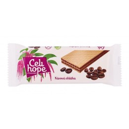 Celi hope Kávová oplatka 25g bez lepku s fruktózou
