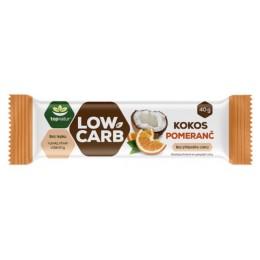 LOW CARB tyčinka Kokos & Pomeranč - Topnatur 40g