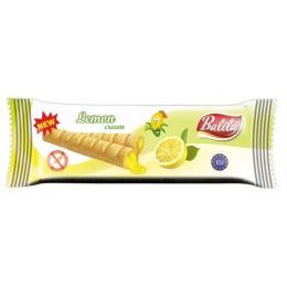 Kukuřičné trubičky plněné krémem s citronovou příchutí bez lepku - Balila 18g