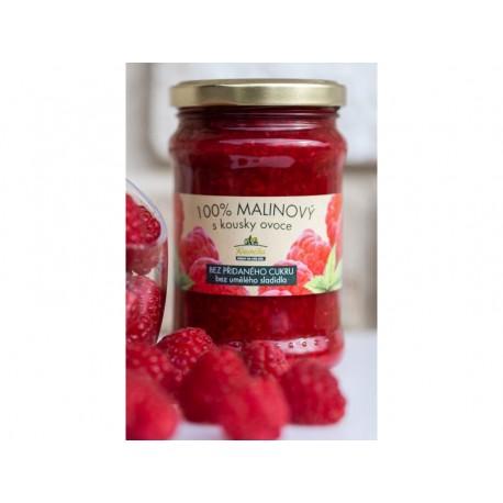 Malinový džem bez přidaného cukru 275g Kvasnička