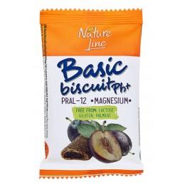 Basic biscuit - sušenky plněné švestkovou náplní bez lepku - Nature Line 50g