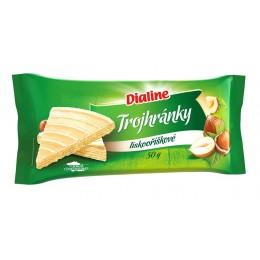 Dialine – trojhránky – lískooříškové 50g nová receptůra