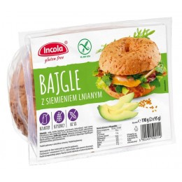 Bagel s lněným semínkem 2x95g INCOLA