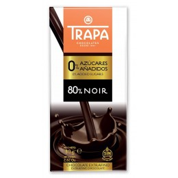 Čokoláda hořká 80% slazená maltitolem - TRAPA 80g
