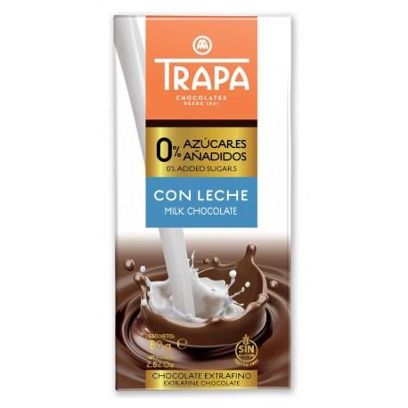 Čokoláda mléčná slazená maltitolem - TRAPA 80g