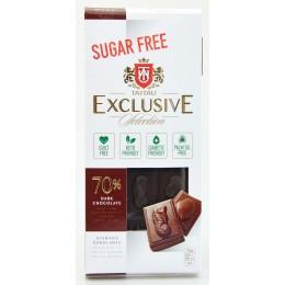 Čokoláda hořká 70% bez přidaného cukru se sladidlem erythritol - TAI TAU 100g