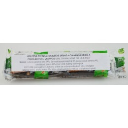 Jablečná tyčinka s černým rybízem - Trutna 25g bez cukru