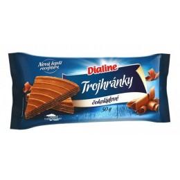 Dialine trojhránky čokoládové 50g - nová receptůra