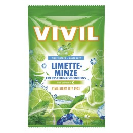 Bonbóny bez cukru - Vivil - limeta peprmint 80g