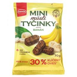 Mini müsli tyčinky s banány bez lepku 70 g SEMIX