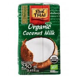 BIO Kokosové mléko 250 ml - kokosový extrakt 85 % Real Thai