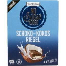 Čokoládovo-kokosová tyčinka v mléčné čokoládě (34%) se sladidly 100g Frankonia